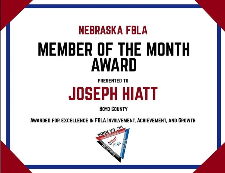 Joseph-member of the month